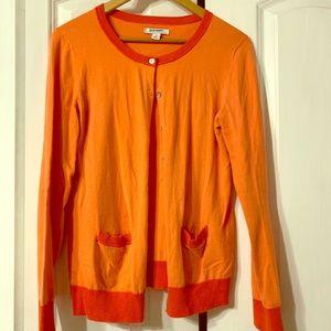 2 tone Orange Cardigan